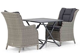 Garden Collections Aberdeen/Nicola 80 cm dining tuinset 3-delig
