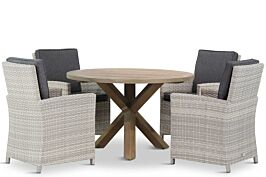Domani Alta/Sand City rond 120 cm dining tuinset 5-delig