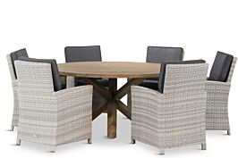 Domani Alta/Sand City rond 160 cm dining tuinset 7-delig