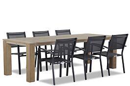 Lifestyle Amarilla/Brighton 240 cm dining tuinset 7-delig stapelbaar