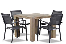 Lifestyle Amarilla/Brighton 100 cm dining tuinset 5-delig stapelbaar