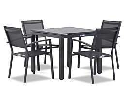 Lifestyle Amarilla/Concept 90 cm dining tuinset 5-delig stapelbaar