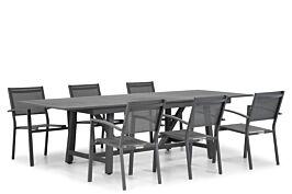 Lifestyle Amarilla/General 217/277 cm dining tuinset 7-delig stapelbaar