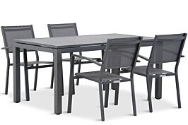 Lifestyle Amarilla/Concept 160 cm dining tuinset 5-delig stapelbaar