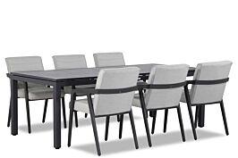 4 Seasons Outdoor Aragon/Concept 220 cm dining tuinset 7-delig