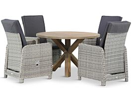Garden Collections Bello/Sand City rond 120 cm dining tuinset 5-delig