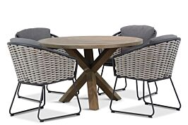 4 Seasons Outdoor Bo/Sand City 120 cm dining tuinset 5-delig