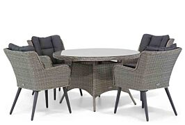 Garden Collections Boston/Aberdeen 120 cm rond dining tuinset 5-delig