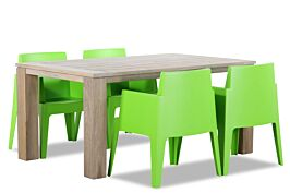 Lifestyle Box/Brighton 165 cm dining tuinset 5-delig stapelbaar