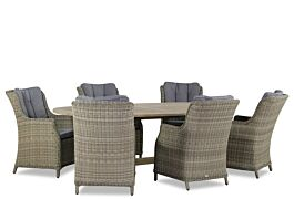 Garden Collections Buckingham/Brighton ovaal 240 cm dining tuinset 7-delig