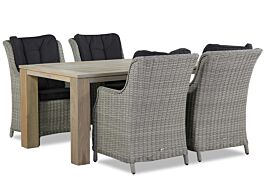 Garden Collections Buckingham/Brighton 165 cm dining tuinset 5-delig