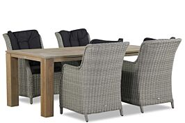 Garden Collections Buckingham/Brighton 200 cm dining tuinset 5-delig