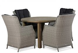 Garden Collections Buckingham/Oxford 120 cm dining tuinset 5-delig