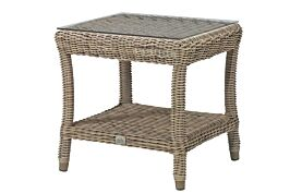 4 Seasons Outdoor Buckingham side table 60 x 60 cm. +glass