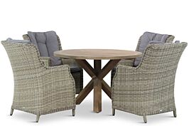 Garden Collections Buckingham/Sand City rond 120 cm dining tuinset 5-delig