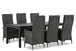 Domani Comino/Concept 220 cm dining tuinset 7-delig verstelbaar