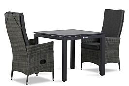 Domani Comino/Concept 90 cm dining tuinset 3-delig verstelbaar