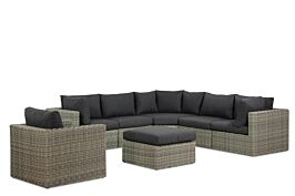 Garden Collections Comodo hoek loungeset 7-delig
