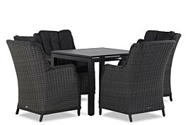 Garden Collections Buckingham/Concept 90 cm dining tuinset 5-delig