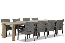 Domani Solarino/Brighton 300 cm dining tuinset 9-delig stapelbaar
