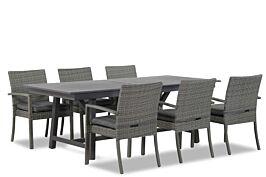 Domani Solarino/General 217/277 cm dining tuinset 7-delig stapelbaar