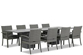 Domani Solarino/Graniet 300 cm dining tuinset 9-delig stapelbaar