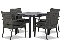 Domani Solarino/Concept 90 cm dining tuinset 5-delig stapelbaar