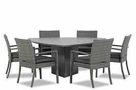 Domani Solarino/Graniet triangel 170 cm dining tuinset 7-delig