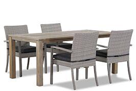 Domani Solarino/Bristol 180 cm dining tuinset 5-delig stapelbaar