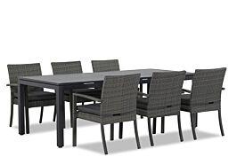 Domani Solarino/Concept 220 cm dining tuinset 7-delig stapelbaar