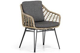 4 Seasons Outdoor Cottage dining chair with 2 cushions
