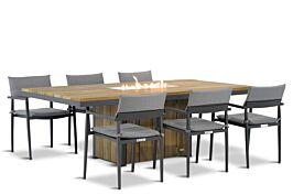 Lifestyle Dego/Seaside 240 cm dining tuinset 7-delig