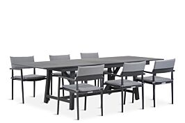 Lifestyle Dego/General 217/277 cm dining tuinset 7-delig stapelbaar
