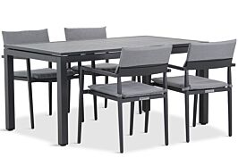 Lifestyle Dego/Concept 160 cm dining tuinset 5-delig stapelbaar