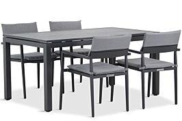 Lifestyle Dego/Concept 180 cm dining tuinset 5-delig stapelbaar