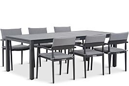 Lifestyle Dego/Concept 220 cm dining tuinset 7-delig stapelbaar