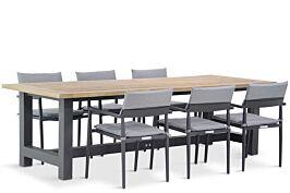 Lifestyle Dego/San Francisco 260 cm dining tuinset 7-delig stapelbaar