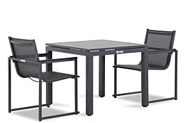 Lifestyle Delgada/Concept 90 cm dining tuinset 3-delig stapelbaar