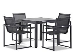 Lifestyle Delgada/Concept 90 cm dining tuinset 5-delig stapelbaar