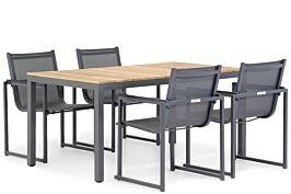 Lifestyle Delgada/Mazzarino 160 cm dining tuinset 5-delig