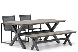 Lifestyle Delgada/Forest 180 cm dining tuinset 4-delig