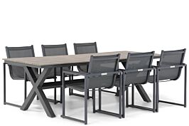 Lifestyle Delgada/Forest 240 cm dining tuinset 7-delig