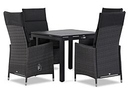 Garden Collections Denver/Concept 90 cm dining tuinset 5-delig verstelbaar