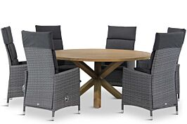 Garden Collections Denver/Sand City rond 160 cm dining tuinset 7-delig