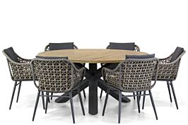 Lifestyle Dolphin/Rockville 160 cm dining tuinset 7-delig