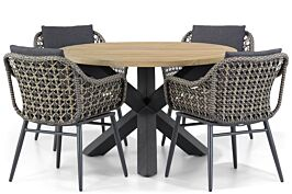 Lifestyle Dolphin/Rockville 120 cm dining tuinset 5-delig