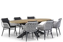 Lifestyle Dolphin/Brookline 240 cm dining tuinset 7-delig