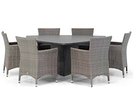 Garden Collections Dublin/Graniet 170 cm triangel dining tuinset 7-delig