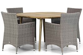 Garden Collections Dublin/Julia 120 cm rond dining tuinset 5-delig