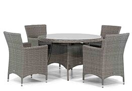 Garden Collections Dublin/Aberdeen 120 cm rond dining tuinset 5-delig